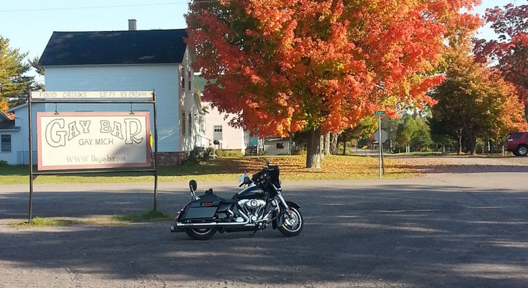 On my bike in the fall